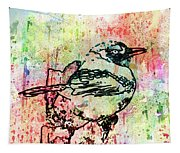 Whimsical Tit Bird Tapestry