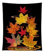 Whirling Autumn Leaves Tapestry