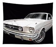 White 1966 Mustang Tapestry