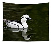 White And Black Duck Tapestry