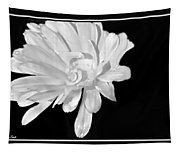 White And Black Flower Painting Tapestry