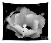 White And Black Hibiscus Flower Tapestry