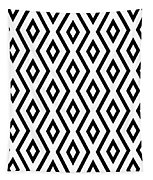 White And Black Pattern Tapestry by Christina Rollo