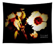 White And Red Dianthus Tapestry