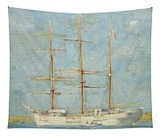 White Barque Tapestry