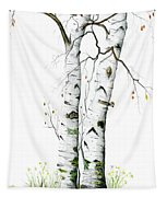 White Birch Tapestry