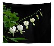 White Bleeding Hearts Tapestry