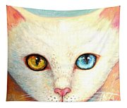 White Cat Tapestry