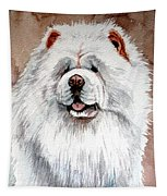 White Chow Chow Tapestry