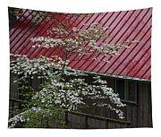 White Dogwood In The Rain Tapestry