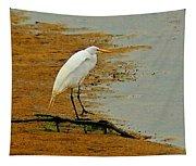 White Egret Tapestry