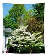 White Flowering Tree Tapestry
