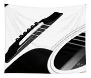 White Guitar 10 Tapestry