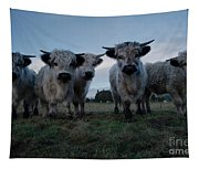 White High Park Cow Herd Tapestry