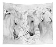 White Horses No 01 Tapestry
