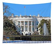 White House South Lawn With Snow Tapestry