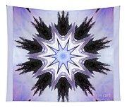 White-lilac-black Flower. Digital Art Tapestry