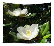 White Magnolia Flowers 01 Tapestry