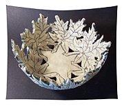 White Maple Leaf Bowl Tapestry