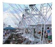 White Marlin Open Docks Tapestry