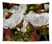 White Paper Petals Tapestry
