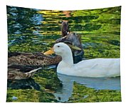 White Reflection Tapestry