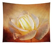 White Rose On Deep Texture Tapestry