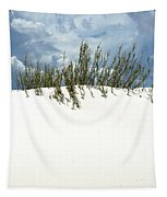 White Sand Green Grass Blue Sky Tapestry