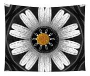 White Shimmering Flower Tapestry