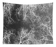 White Silhouetted Trees  Tapestry
