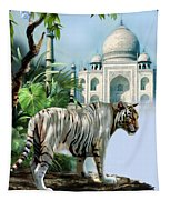 White Tiger And The Taj Mahal Image Of Beauty Tapestry