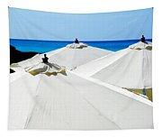 White Umbrellas Tapestry