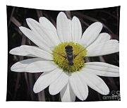 White With Bee Tapestry