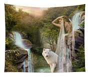 White Wolf Falls Tapestry