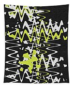 White Yellow On Black Tapestry