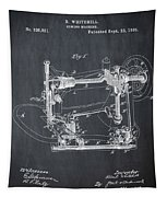 Whitehill Sewing Machine Patent 1885 Chalk Tapestry