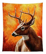Whitetail Buck Portrait Tapestry