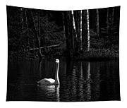 Whooper Swan In Bw 1 Tapestry