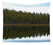 Whooper Swans Panorama  Tapestry