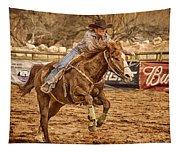 Wickenburg Senior Pro Rodeo Barrel Racing Tapestry