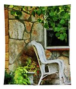 Wicker Rocking Chair On Porch Tapestry