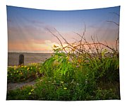 Wild At Sunrise Tapestry