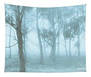 Wild Blue Woodland Tapestry