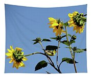 Wild Canary Sunflowers Tapestry