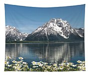 Wild Daisies In The Tetons Tapestry