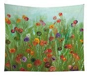 Wild Flowers Abstract Tapestry