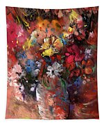 Wild Flowers Bouquet In A Terracota Vase Tapestry