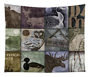 Wild Game Patchwork II Tapestry
