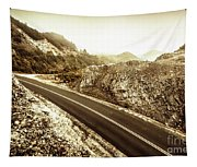 Wild Highland Road Tapestry