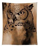 Wild Owl Eyes Tapestry